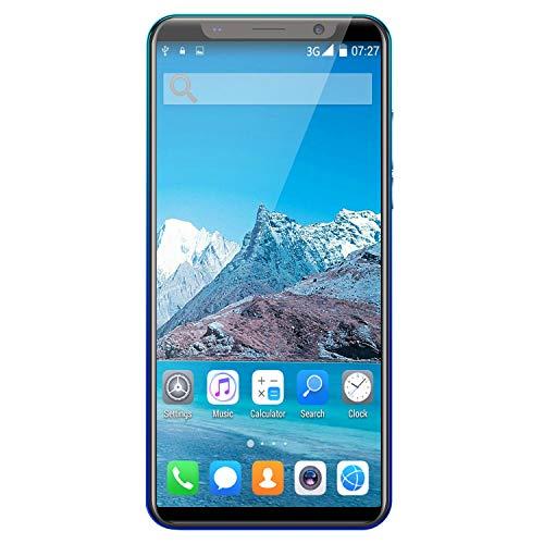 Andifany X27Plus 5.8 Pulgadas ConfiguracióN de Pantalla Grande 512MB + 4GB Dual SIM Dual Standby Phone Desbloqueo Facial 3G Phone Azul EU Plug
