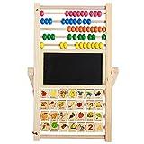 Caballete niños Educación Temprana Educación de múltiples funciones de los niños pequeños Abacus magnético tablero de dibujo de usos múltiples de Dibujos Cálculo Enseñanza SIDA Niños caballete