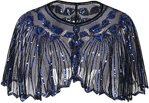 DSKEFE Mujeres Elegent Open Front Lace Premium Bolero Shrug Luxury Pashmina