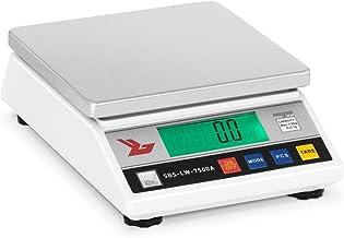 Steinberg Balance de Précision Cuisine Professionnelle SBS-LW-7500A (7.500g/0,1g, surface de pesée 18x18cm, 26x8x18cm, tem...