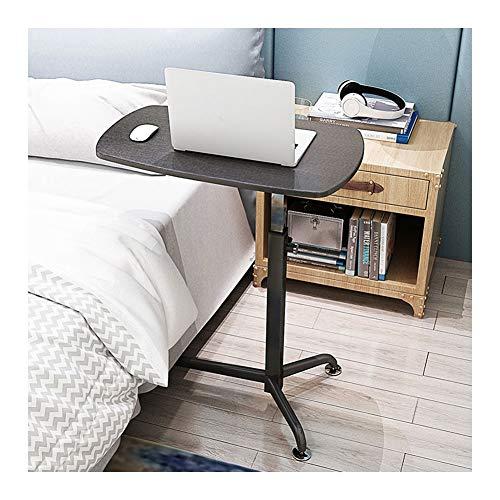GUOQING Notebooktisch Laptoptisch Höhenverstellbarer Beistelltisch Mit Rollen,für Büro Schlafzimmer im Bett oder auf dem Sofa (Color : Black)