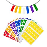 GWHOLE 420 Unids Cables Etiqueta Autoadhesiva Impermeable, Marcador Etiqueta de Cables para Identificar Organizar Alambres - 7 Colores