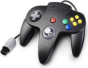 Classic N64 Controller, kiwitatá Retro Wired Controller Gamepad Joystick for Nintendo 64 N64 Console Video Games System Black