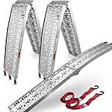 ms-point BITUXX® 2X Motorradrampe/Alu Auffahrrampe/Verladerampe/Auffahrschiene 340kg / 2,28m klappbar