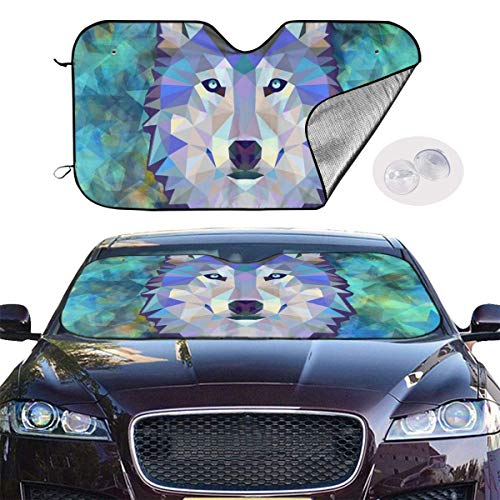 Coloranimal 3D Wolf Car Seat Cover Cool Animal Pattern Interior Auto Decor Universal Fit Truck Vehicle Pet Cushion Protector Case Set of 2