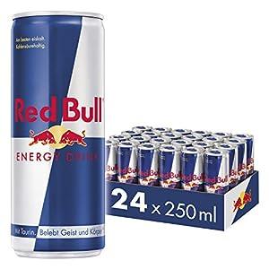 Red Bull Energy Drink – Flügel wenn man sie braucht Red Bull Energy Drink beinhaltet hochqualitative Zutaten: Koffein, Taurin, B-Komplex-Vitamine, Saccharose & Glukose, alpines Wasser Lieferumfang: 24er Pack Red Bull Energy Drink Palette, 24 x 250 ml...