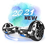 Hoverboards, 6.5 inch Self Balancing Scooter Hoverboards with Bluetooth Speaker Hoverboards for Kids Age 8-12 Colorful Flashed LED Wheel Best gifts for kids Boys Girls Gifts Hoverboards go Kart