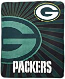 Officially Licensed NFL Green Bay Packers 'Strobe' Sherpa on Sherpa Throw Blanket, 50' x 60', Multi Color
