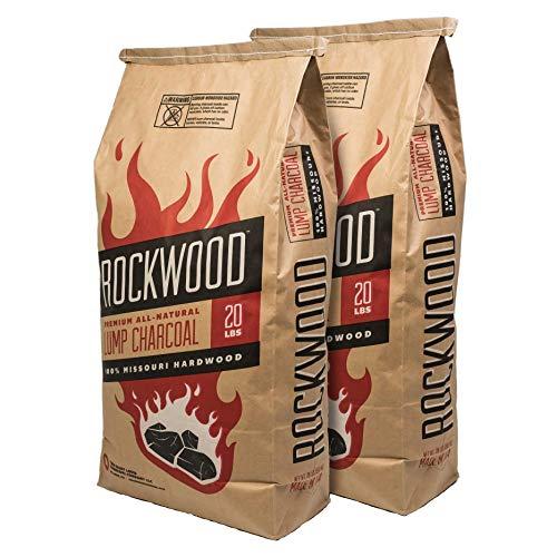 Rockwood All-Natural Hardwood Lump Charcoal - Missouri Oak, Hickory, Maple, and Pecan Wood Mix