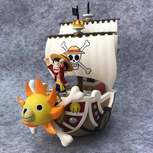 KVSW Anime Pirata Hecho a Mano Millas de Vela Sol Sol Sombrero de Paja Regimiento Pirata Modelo de Barco Sonny Modelo de Personaje de Anime