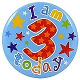 Simon Elvin Kinder Button I Am 3 Today (Einheitsgröße) (Bunt)