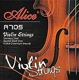 Alice Violin String Set A705 Universal Full Set (E-A-D-G) Violin Fiddle Strings Steel Core Ni-Fe...