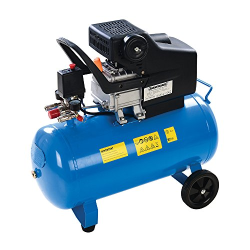 1500W 116psi / 8bar Air Compressor -50L Pressure Tank 2HP Motor- Portable Garage Workshop Tool – Oil Lubricated Single-Stage Pump | Airbrush Car Paint Socket Drill For Home DIY