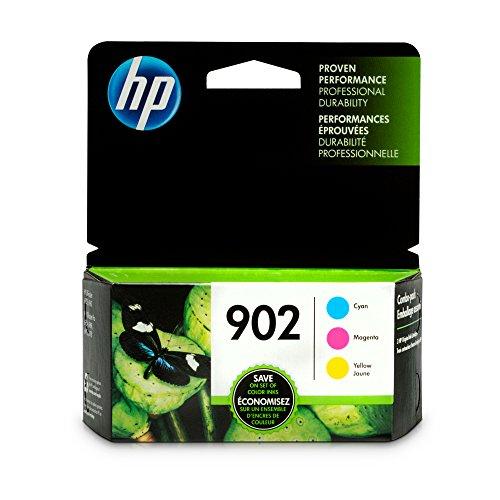 HP 902 Cyan, Magenta & Yellow Original Ink Cartridges, 3 Cartridges (T6L86AN, T6L90AN, T6L94AN) for HP OfficeJet 6958 6962 HP OfficeJet Pro 6968 6954 6975 6978