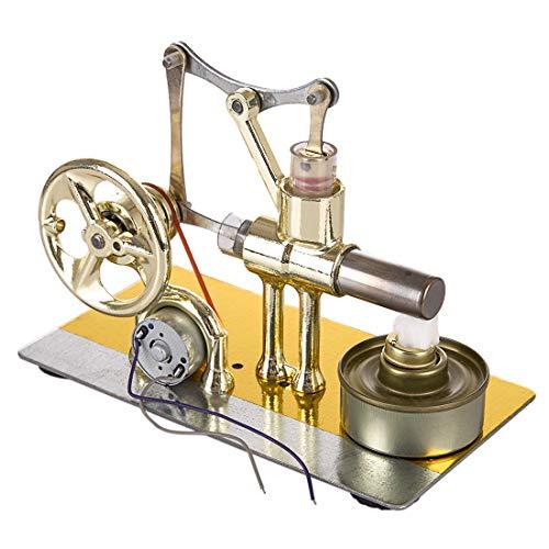 TETAKE Stirlingmotor - LED Stirlingmotor Bausatz - Stirlingmotor mit Generator Stirling Engine Kit für Technikinteressierte Bastler