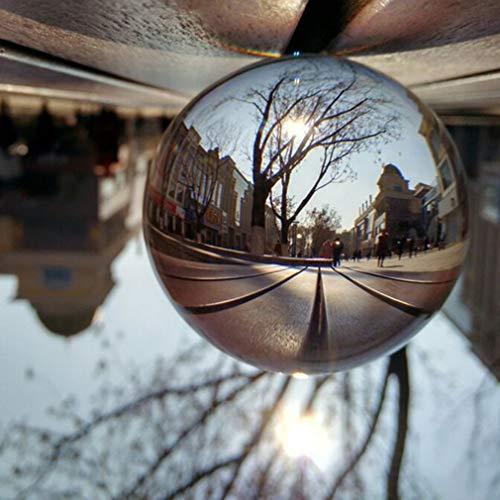 MathRose Glaskugel Fotografie, K9 Glas Lensball, Klare Kristallkugel, Fotokugel Crystal Ball Fotografie Dekoration Geschenk für Freund (150mm)