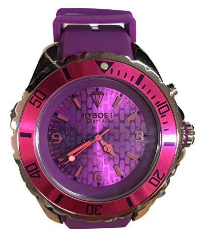 KYBOE Unisex-Erwachsene analog Quarz Uhr mit Silikon Armband Giant 48-48mm
