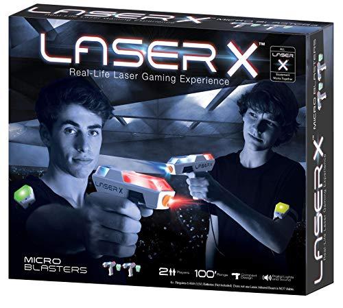 beluga Spielwaren 79005 Laser X Micro Double Blasters 79005-Laser Blaster, weiß