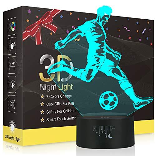 3D Soccer Night Light for Kids