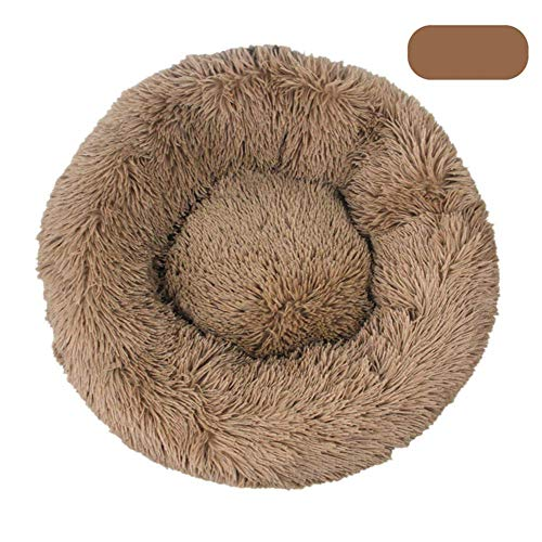 Ronde Pet Bed Hond Kat Winter Warm Sleeping House Washable lange pluche Kennel Cat Bed Kennel Nest Foldable Puppy Cushion Mat,2,110CM