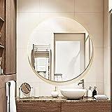 YAWEN Espejo redondo espejo de pared, impermeable y a prueba de explosiones para la sala de estar de la decoración de la pared del baño (5 0CM / 2IN, 60 CM / 2.4IN, 70 CM / 2.8IN, 80 CM / 3.1IN)