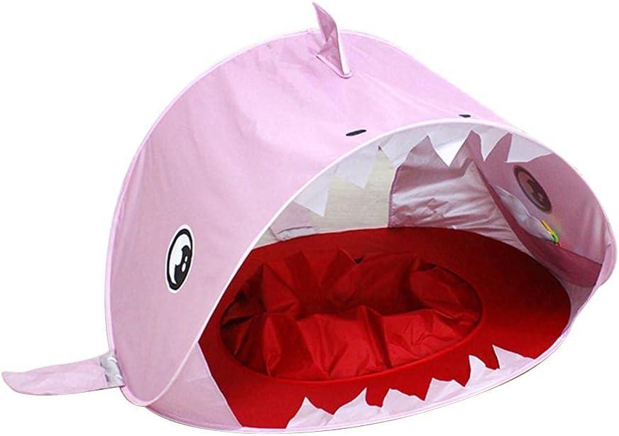 Eeauytr Tienda de Playa para bebés,con tiburón emergente Carpa para Refugio Solar portátil,UPF 50+ Carpa para protección UV Sombra para la Playa Juguetes para la Piscina de Playa para bebés