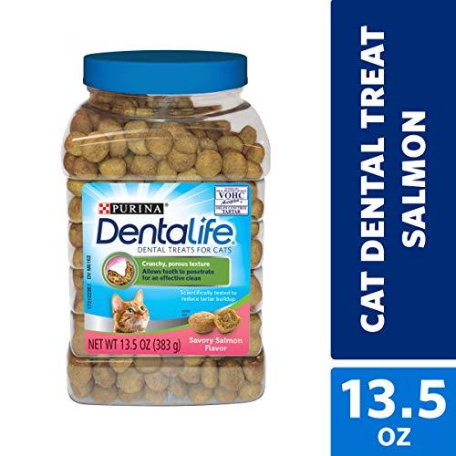 Purina DentaLife Made in USA Facilities Cat Dental Treats, Savory Salmon Flavor...