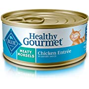 Blue Buffalo Healthy Gourmet Natural Adult Meaty Morsels Wet Cat Food, Chicken 5.5-oz cans (Pack of 24)