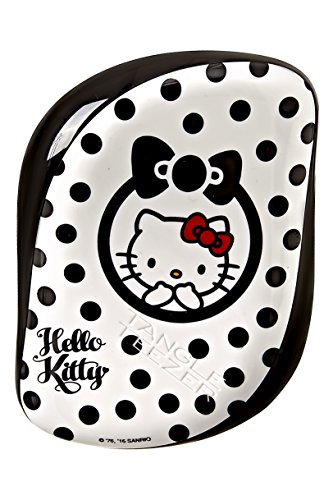Tangle Teezer Compact Styler Hello Kitty Peine, Negro y Blanco - 150 gr