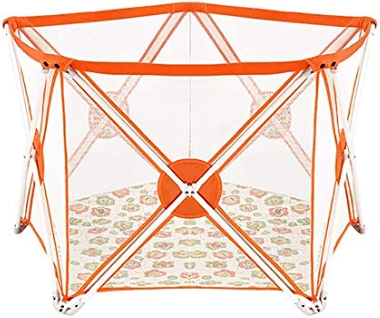 YOUXD Baby Deluxe 5 Mesh Zaun Faltbare Indie-Spielfeld (Farbe   Orange)