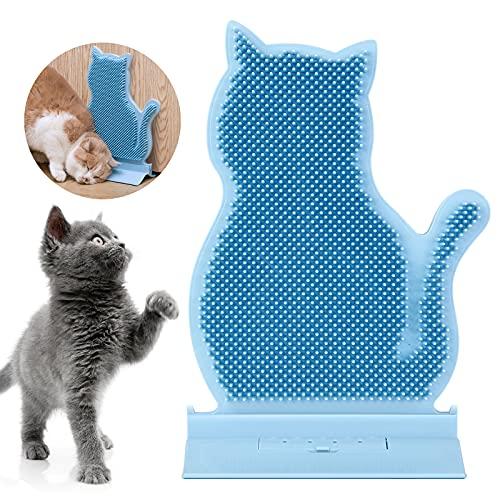 猫痒み止めブラシ ペットマッサージブラシ 猫自己グルーマー キャットニップポーチ付き ねこじゃすり 猫グッズ 猫用顔すりすり 扉のそば、コーナーマッサージブラシ