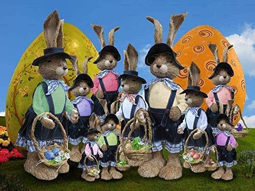 LWEEHNF Rompecabezas de 1000 Piezas para Adultos Grupo de Personas de Madera con Disfraz de Animal Decoraciones caseras de Bricolaje Juegos Familiares Tamaño: 75 50 cm (L076)