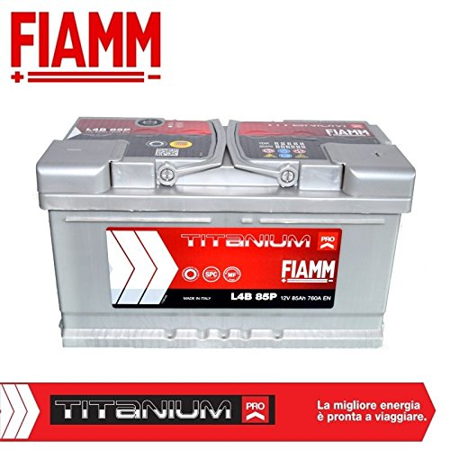 Auto-Batterie Fiamm Titanium Pro, 85 Ah / 760A, Pluspol rechts, Artikelnr.L4B85P