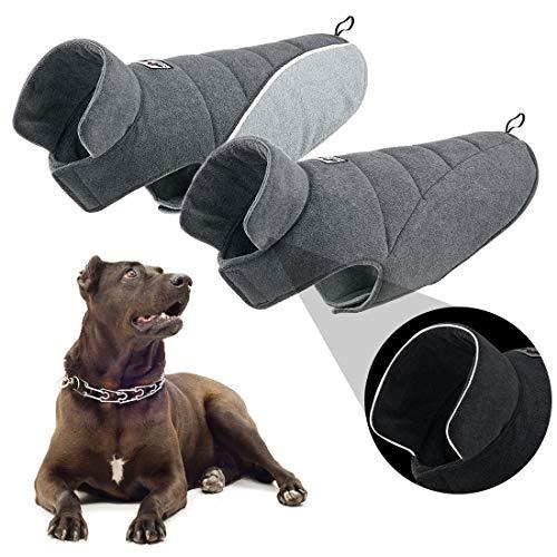 TVMALL Cappotto Giacca per Cani Reversibile Cappotti e Giubbotti per Cani Riflettente per Cani Cappotto di Sicurezza Inverno Freddo Calore Antivento A