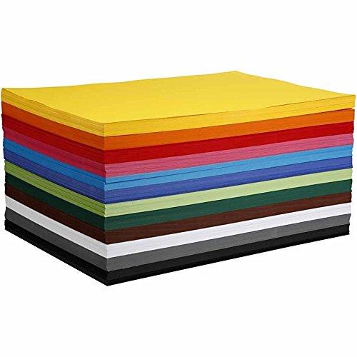 DIN A2 Bastelkarton/Tonpapier 120 Blatt sortiert - artdee®