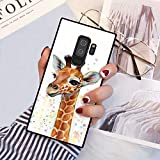 Chic Cute Young Giraffe Case for Samsung Galaxy S9 Plus Retro Classic Stylish Cover for Samsung Galaxy S9 Plus Square Shockproof Protective Case
