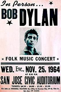 Bob Dylan - 1964 - San Jose CA - Concert Poster