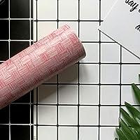 わらの壁紙、pvc防水デカールホテル寮レトロ壁画木目調グレー改装家具デスクトップステッカーアートの装飾壁布 (Color : D)