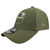 New Era NFL 2019 Salute to Service Adjustable 39Thirty 3930 Hat Cap (Baltimore Ravens, Medium/Large)