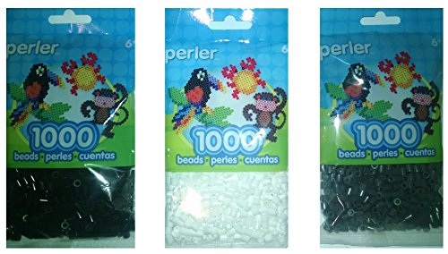 1000 black perler beads - 6