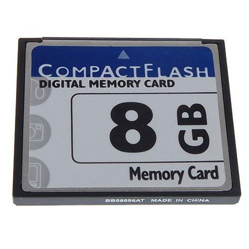 balikha Carte Mémoire Numérique Compact Flash CF 8 Go pour Nikon D100 / EOS 400D - Nouveau