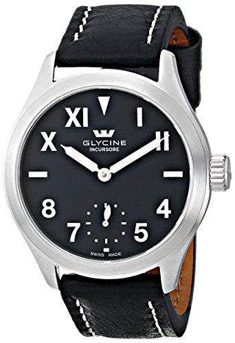 GLYCINE INCURSORE II 44mm MANUALE SATINATO QUADRANTE NERO CALIFORNIA...