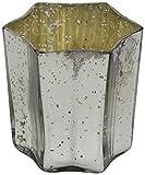 Decoline Teelicht-Gläser 3 Stück Stern Silber mittel