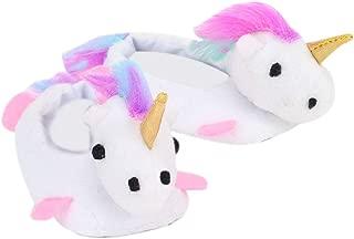 White Unicorn Slippers for 18 Inch Dolls | Rainbow Haired Unicorn Slippers for Dolls