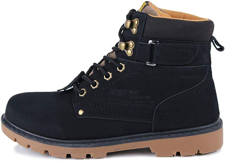 DLBJ Men's Retro Martin Boots Outdoor Leisure Warm Non-Slip Large Size High shoes