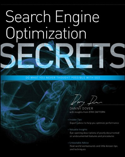 Compare Textbook Prices for Search Engine Optimization SEO Secrets 1 Edition ISBN 9780470554180 by Dover, Danny,Dafforn, Erik