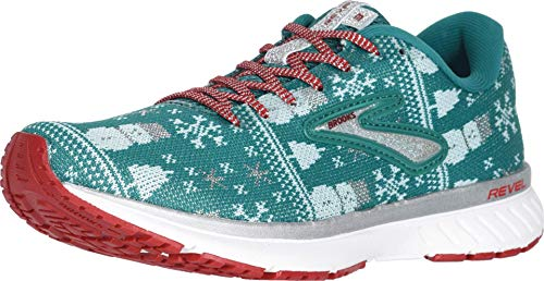 Brooks Revel 3 Green/Red/Metallic Silver 12 B (M)