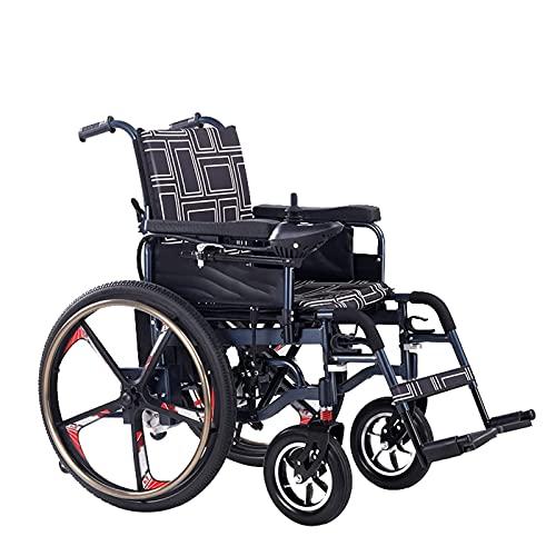 FGVDJ Scooters para Personas Mayores con discapacidades eléctricas Plegables, 250 W * 2 Motores Dobles, Freno electromagnético, transmisión de 5 velocidades