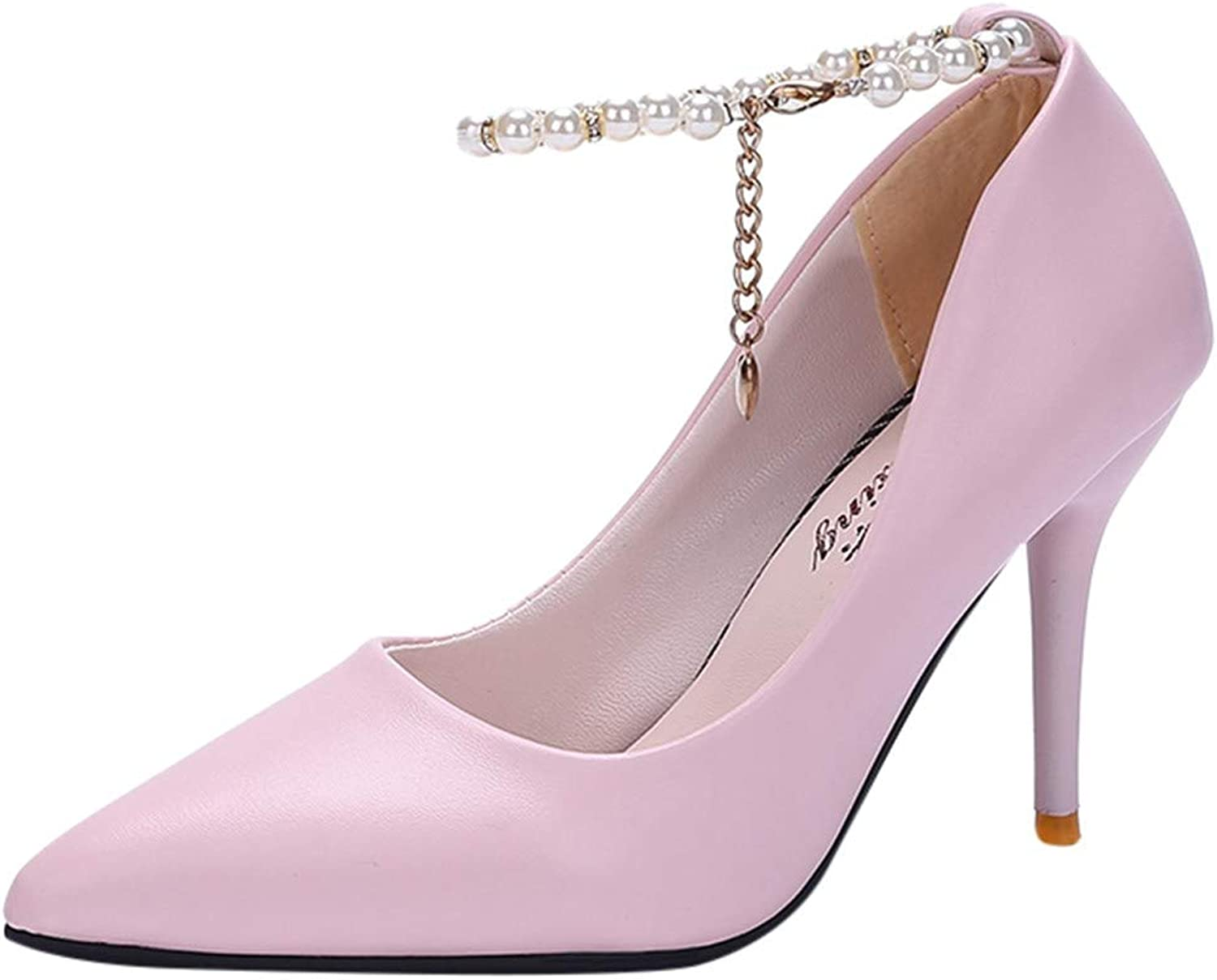 Xinantime Women's Closed Pointed Toe Pumps Stiletto High Heels Office Lady Wedding Party Dress Heeded shoes