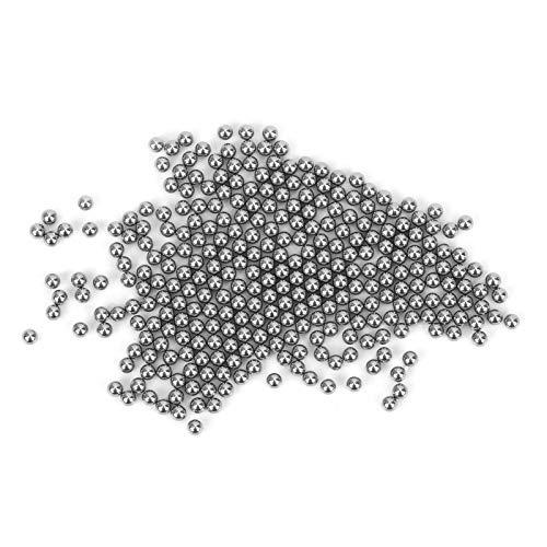 DAUERHAFT Bola de Acero Inoxidable Pulido de Superficie Bola de Acero Industrial 304 para herrajes de plástico para la Industria química para Esmalte de uñas para Equipos médicos(3mm)